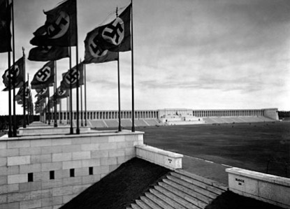 Zeppelinfeld was designed by Albert Speer and built in Nuremberg, Germany, in 1936.