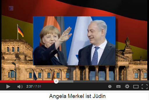 006-juedin-Merkel-m-Hitler-gruss-m-Israel-fahne