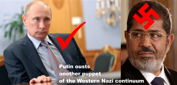 Putin ousts another puppet of the Western Nazi continuum (Morsi) #1ab
